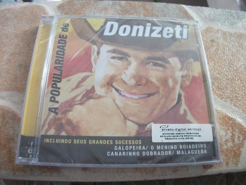 cd - donizeti a popularidade de donizeti