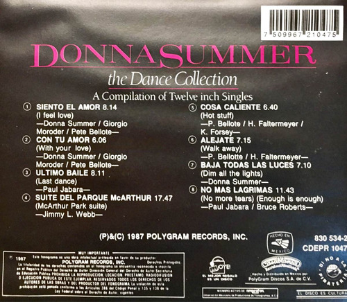cd donna summer the dance collection