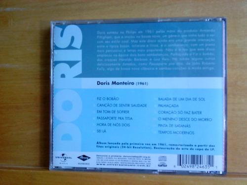 cd  doris monteiro - fiz o bobão - 1961 - remasterizado