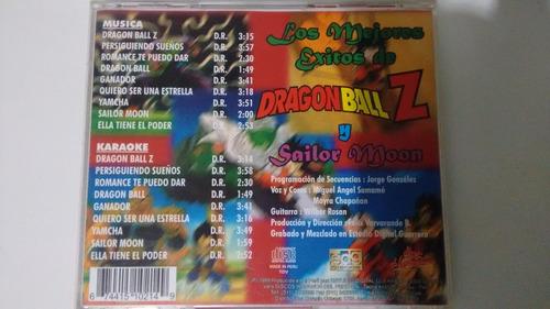 cd dragon ball z y sailor moon + karaoke  en oferta (fortum)
