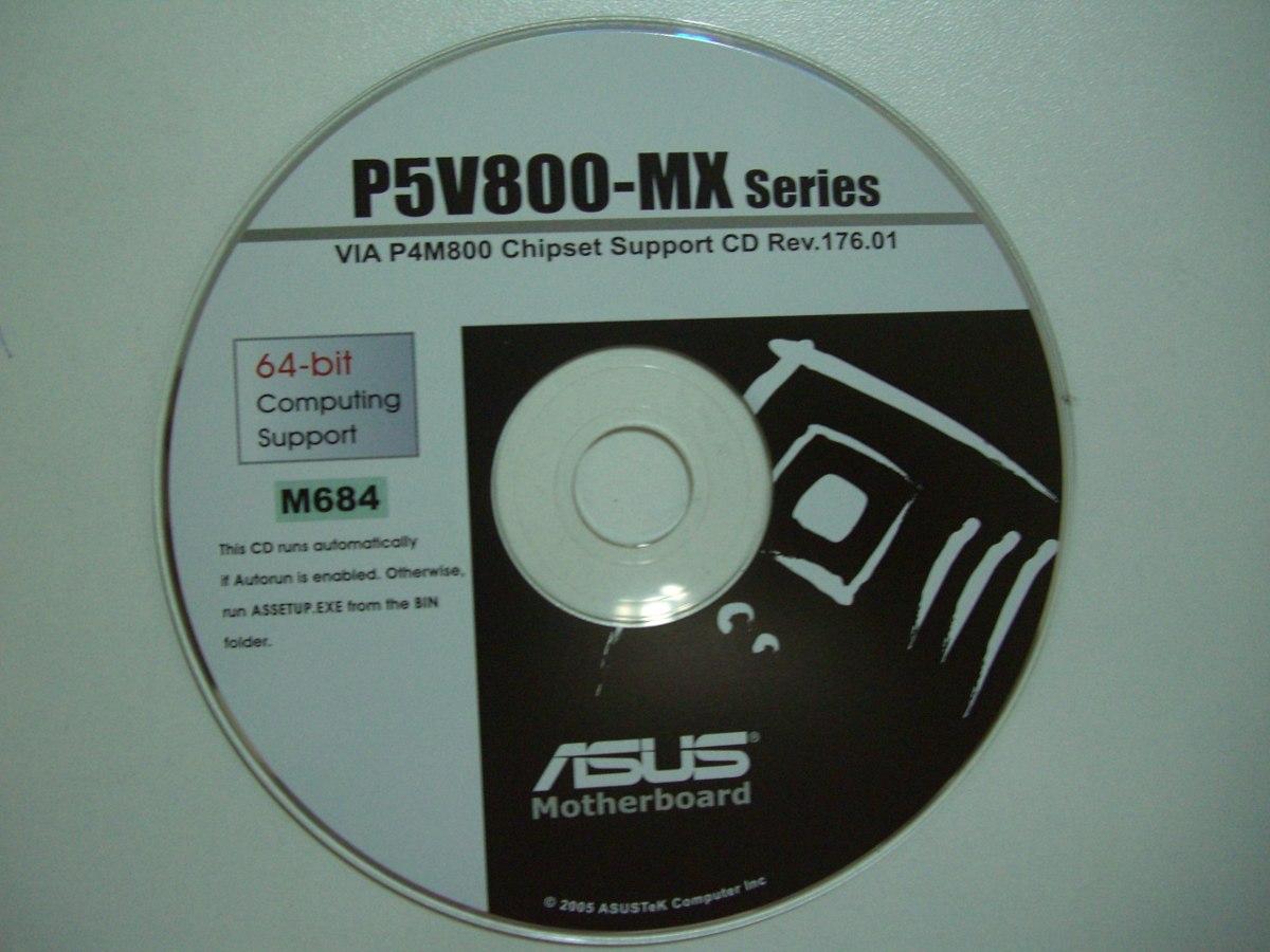 Cd Driver Original Placa Mãe Asus Modelo P5v800-mx Series