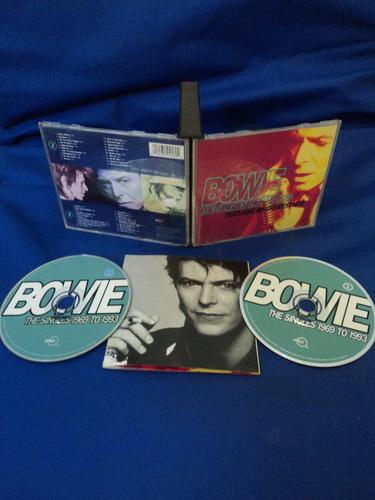 cd duplo david bowie - the singles 1969 to 1993 **raro