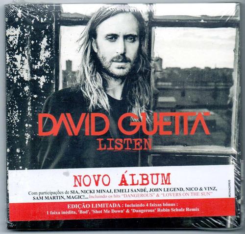 cd duplo david guetta - listen - edição limitada - novo***