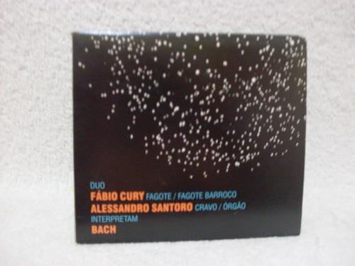 cd duplo fábio cury & alessandro santoro- duo
