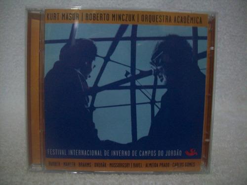 cd duplo kurt masur, roberto minczuk- orquestra acadêmica