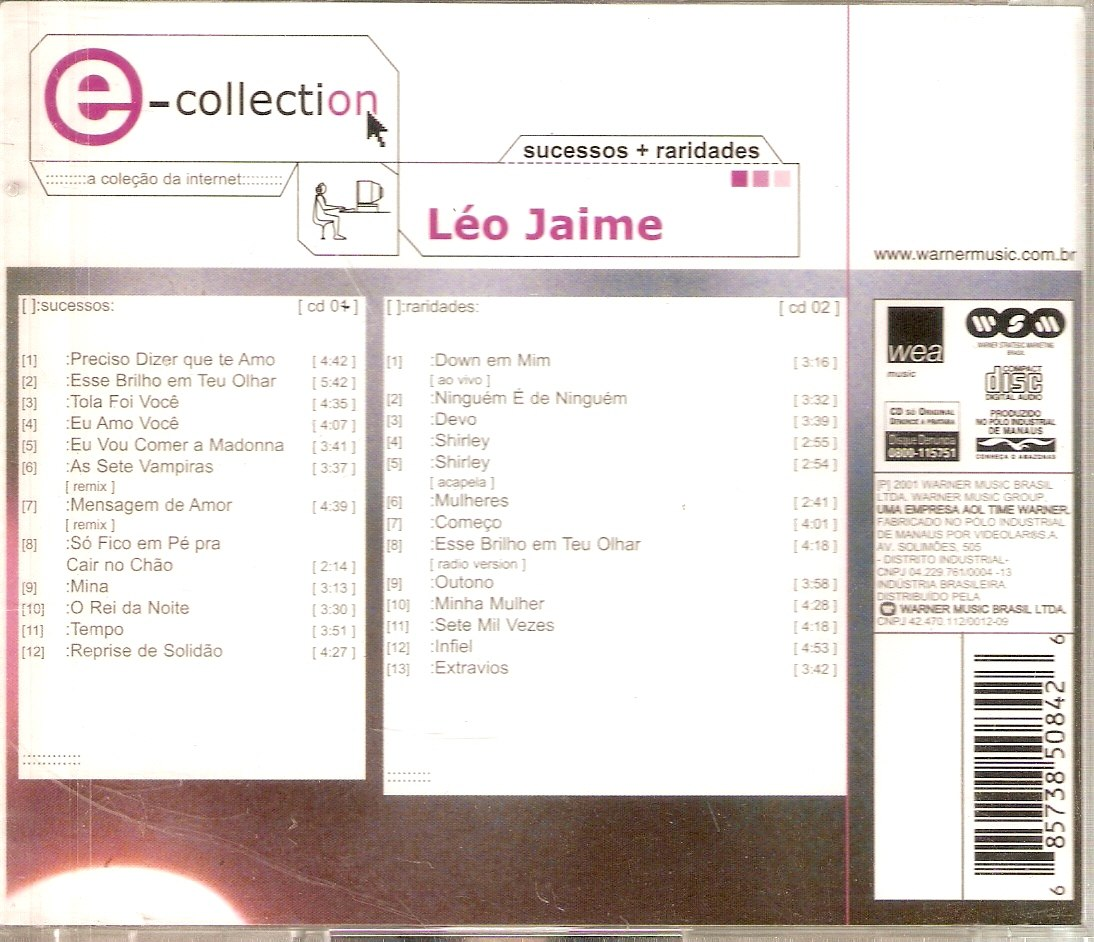 Cd Duplo Léo Jaime - E- Collection - Novo*** - R$ 242,00