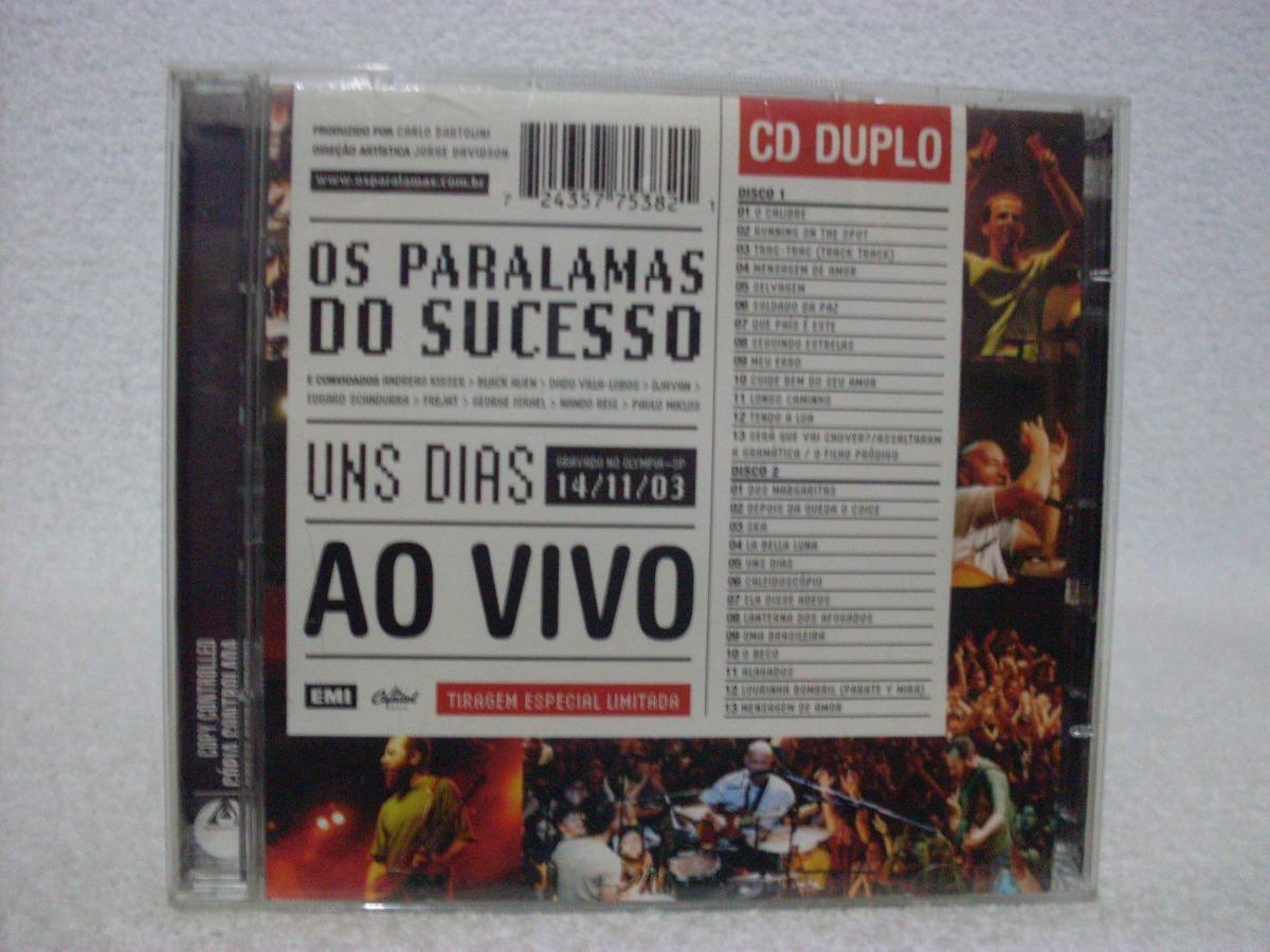 cd paralamas do sucesso ao vivo uns dias