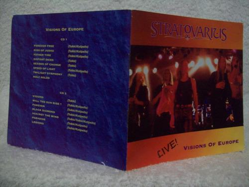cd duplo original stratovarius- live !- visions of europe