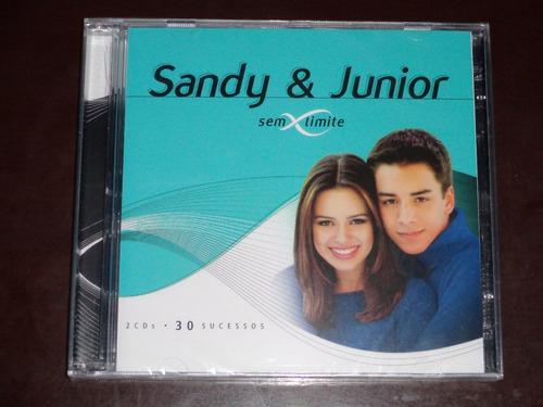 cd duplo sandy e junior sem limites 30 sucessos lacrado !!!