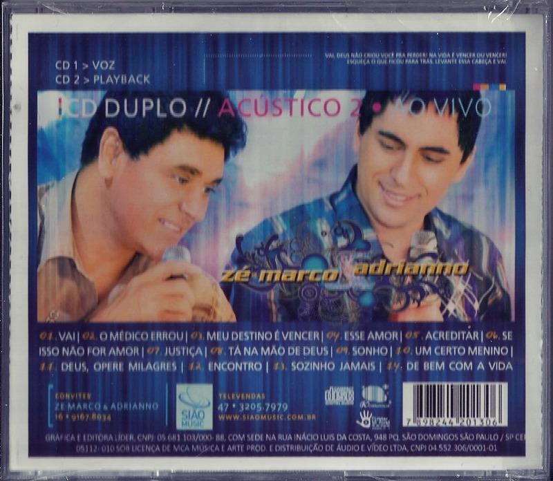 SONHO CD ZE PLAYBACK E ADRIANO BAIXAR MARCO