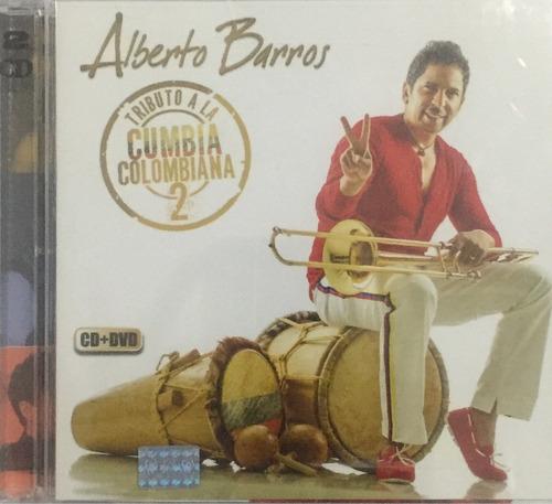 cd + dvd alberto barros tributo a la cumbia colombiana 2