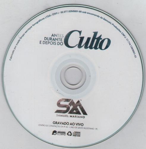 cd + dvd antes, durante e depois do culto | samuel mariano
