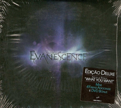 cd + dvd evanescence - deluxe version / digipack - novo***