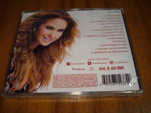 cd+dvd lucero / mas enamorada (nuevo y sellado) nuevo disco