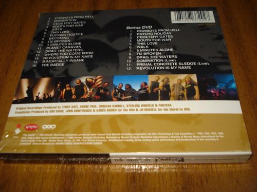 cd+dvd pantera / the best of pantera (nuevo y sellado)