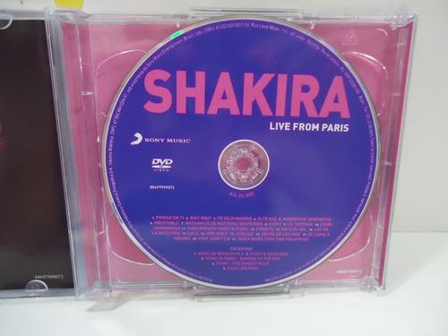 cd + dvd shakira life from paris - esc 12