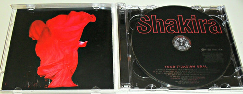 cd + dvd shakira / tour fijacion oral