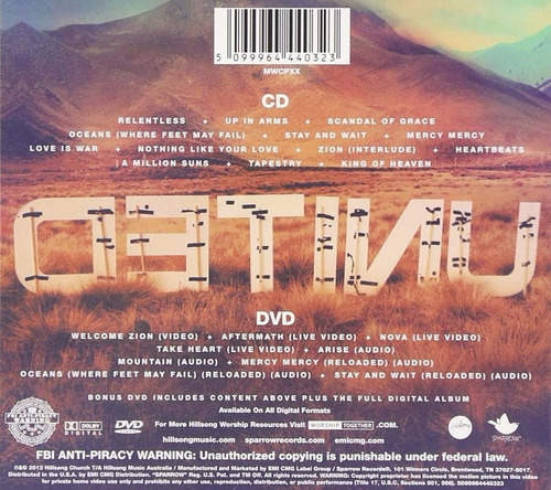 cd+dvd zion united deluxe edition hillsong