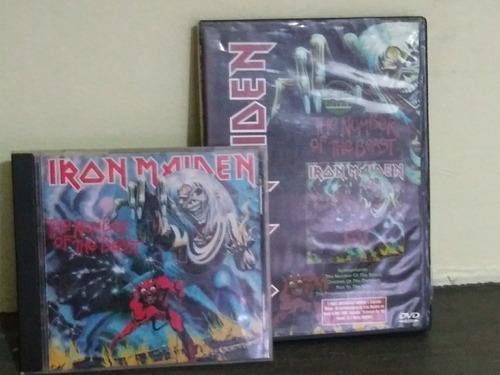 cd e dvd. irom maiden - the number of the beast. originais