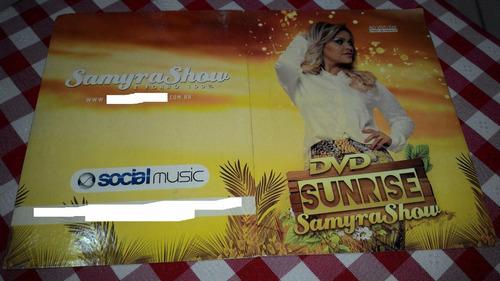 cd e dvd samyra show ao vivo sunrise capa de papelão