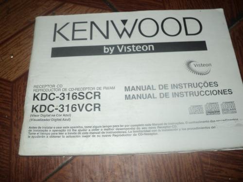 cd e radio kdc-316scr kdc-316vcr kenwood manual