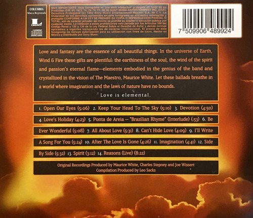 cd earth wind and fire elements of love the ballads