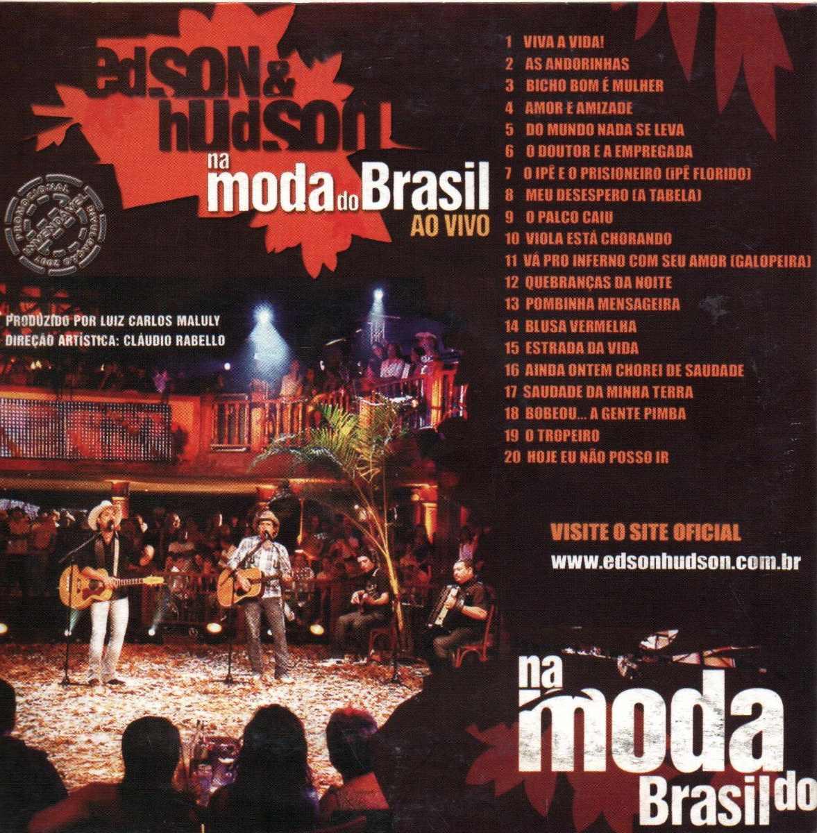 cd edson e hudson na moda do brasil