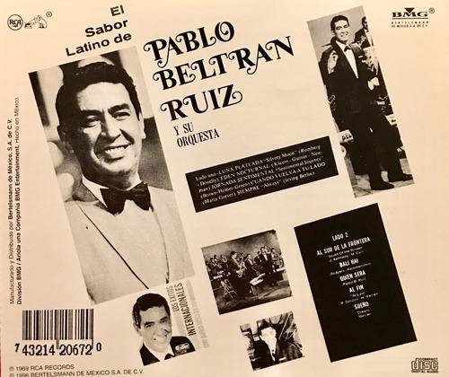 cd el sabor latino de pablo beltran ruiz y su orquesta
