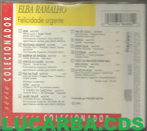 cd - elba ramalho - felicidade urgente - lacrado