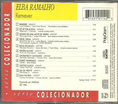 cd elba ramalho - remexer - 1986 - série colecionador - raro