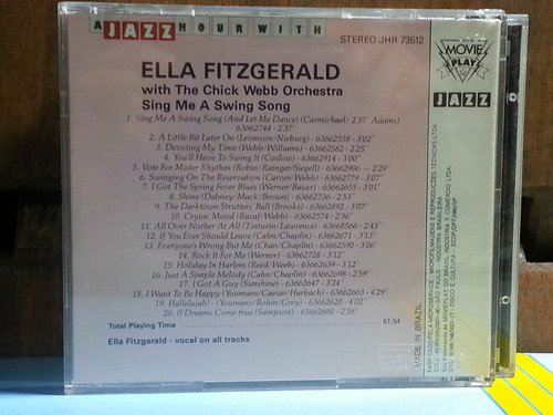 cd ella fitzgerald - with the chick webb orchestra nacional