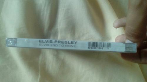 cd elvis presley 2nd to none - importado usa lacrado 2003