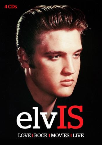cd elvis presley - love / rock / movies / live - box 4 cds