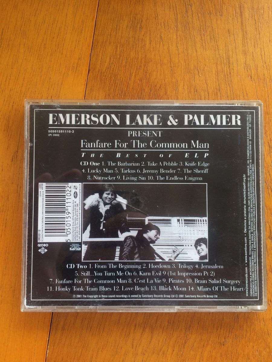 Cd Emerson Lake And Palmer - Fanfare For The Common Man