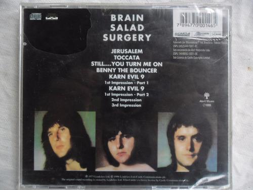 cd  emerson, lake & palmer - brain salad surgery  novo