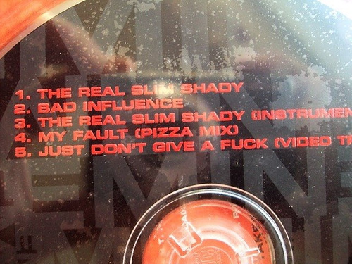 cd eminem the real slim shady single + video nuevo sellado