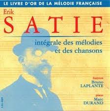 cd erik satie - integrale melodies - bruno laplante
