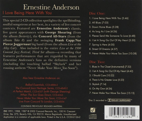 cd ernestine anderson - i love being here with you (duplo)