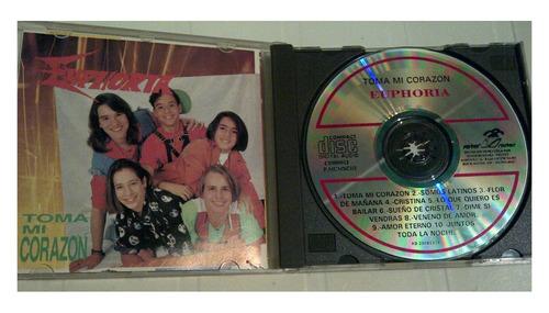 cd - euphoria - toma mi corazon - 1993 - original