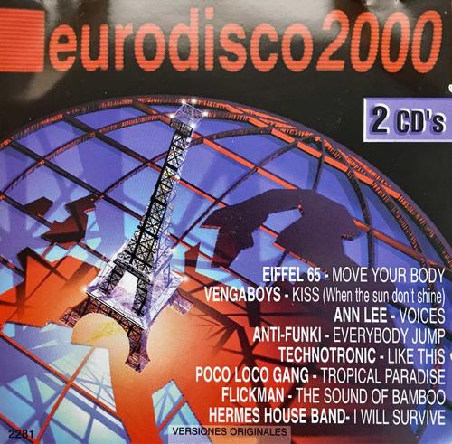 cd eurodisco 2000 usado 2cds vengaboys eiffel 65 technotroni