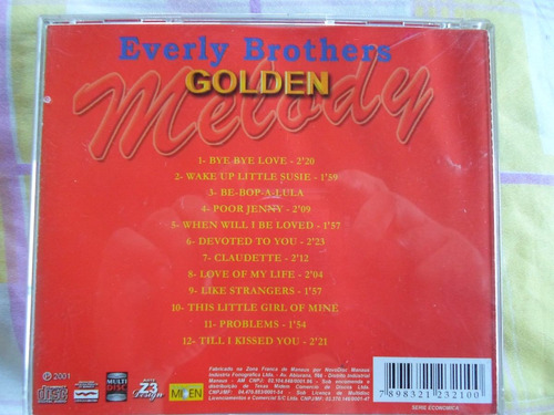 cd everly brothers - golden melody