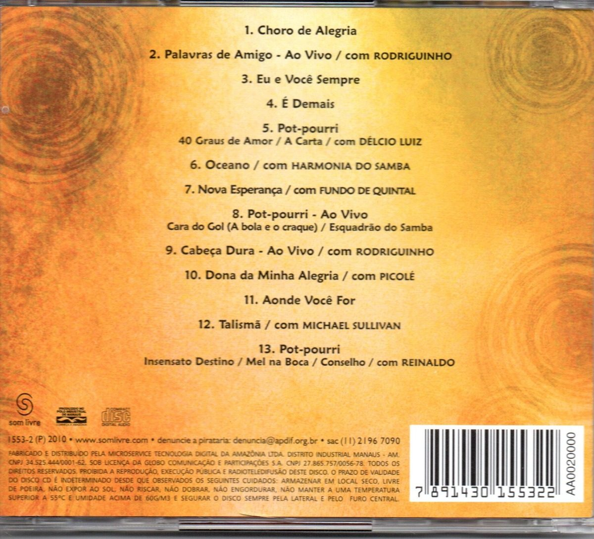 gratis cd do exaltasamba roda de samba