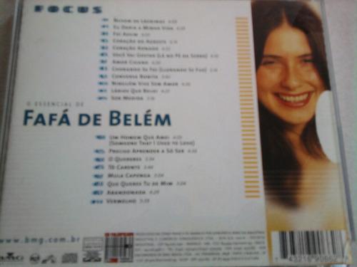 cd fafá de belém o essencial de... série focus raridade