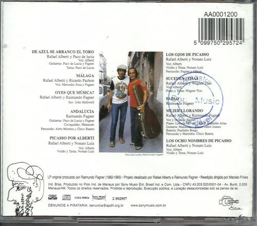 cd fagner - homenagem a picasso - 1983 - cd do box