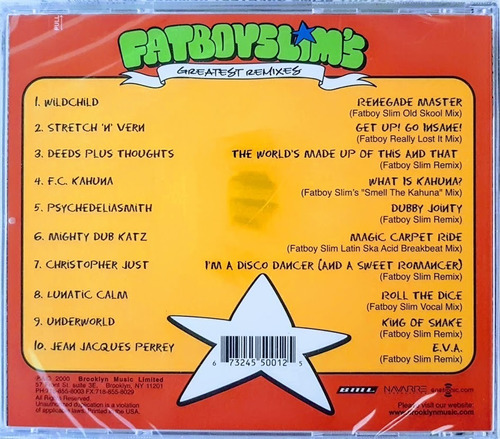 cd fatboy slim's - greatest remixes - importado usa lacrado