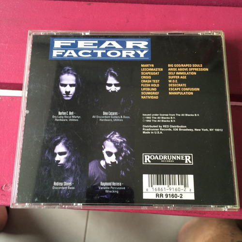 cd fear factory - soul of a new machine importado