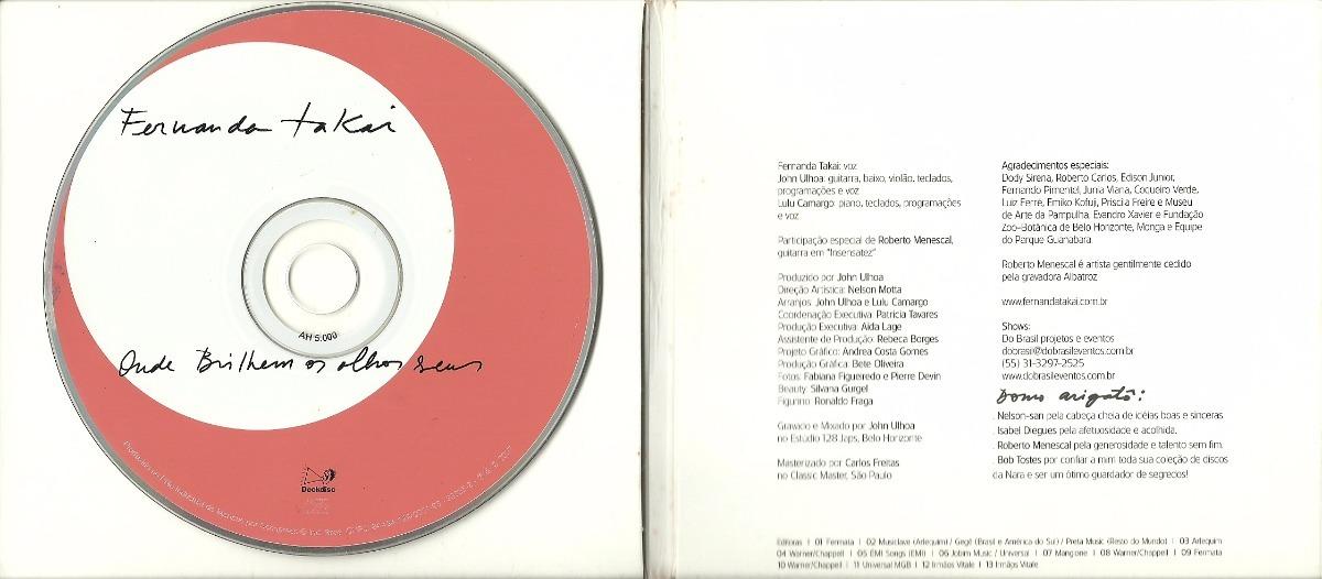 TAKAI BRILHEM CD ONDE OS OLHOS SEUS BAIXAR FERNANDA