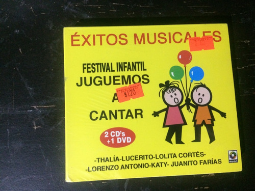 cd festival infantil juguemos a cantar thalia 2 cd's + dvd