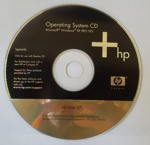 cd fisico windows xp profesional sp2