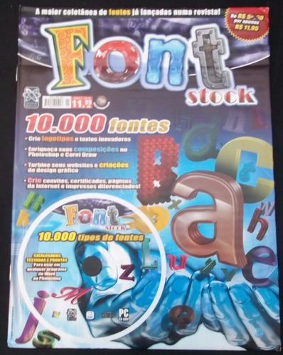 cd font stock - 10.000 fontes para diversos fins - ml